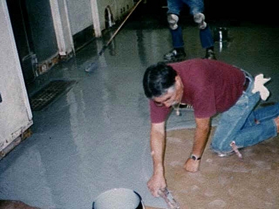 Asbestos Floor Tiles Seal With Acrylic Paint